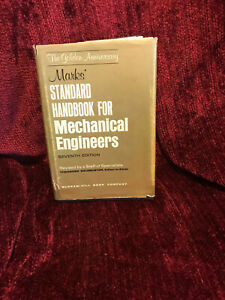 Marks' Standard Handbook For Mechanical Engineers Seventh Edition 1967