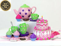"Doll Clothes 18"" Sophia  25-Piece Tea Party Set Fits American Girl Dolls"