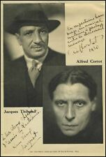Jacques THIBAUD (Violin) and Alfred CORTOT (Piano): Signed Photograph
