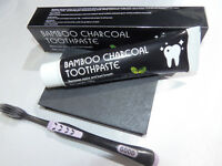 Bamboo Charcoal Toothpaste Ft Charcoal toothbrush kit