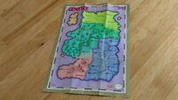 Gemfire Nintendo Entertainment System NES KOEI Poster Map Insert Paper Lot CLEAN