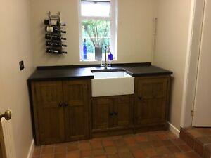 freesta belfast sink/washing machine unit handmade in solid wood-COLOUR SAMPLE