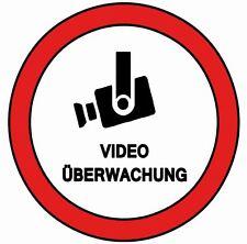 Aufkleber Videoüberwachung Warnung Haus Bus Firma Laden Wohnung Taxi Geschäft
