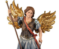 Saint Michael Archangel With Scales - St.Michael With Balance Woodcarved Look