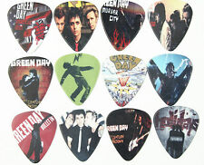 ONE DOZEN 12 GREEN DAY GUITAR PICKS SET NEW DOUBLE SIDED IMAGE PICTURE FREE SHIP