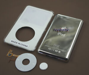 white front faceplate back case housing clickwheel button fr ipod 5th video 30gb