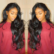 Brazilian Glueless Lace Front Full Hair Human Wig Long Wave Wigs With Baby Hair