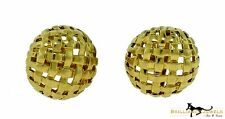 Tiffany & Co. Vannerie Basket Weave Yellow Gold Cufflinks, One of a Kind