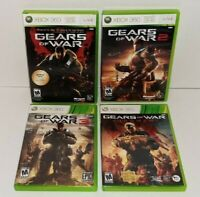 Gears Of War 1, 2, 3 And Judgement Microsoft Xbox 360 4 Game Lot Complete CIB