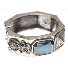 All Saints Spitalfield Vintage Gemstone Beetle Punk Style Bangle Silver Tone