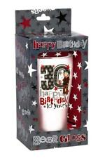 30th Birthday Frosted Pint Beer Glass Present Party Gift In Presentation Box