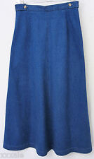 Talbots Petites Size 8 Womens Skirt Deep Blue Quality Denim
