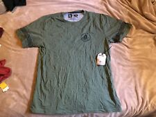 Hippy Tree Firewood Tee Men's Heather Army Short Sleeve T-Shirt XXL 2XL NWT