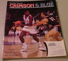 KU Jayhawk Basketball Program - Tennessee Martin Dec 4, 1989