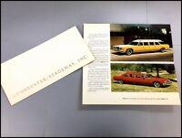 1974 Armbruster Stageway Pontiac Limousine Vintage Car Sales Brochure Catalog