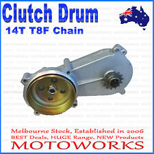 14T T8F Gear Box Clutch Drum Bell Housing 47 49cc Mini Pocket Quad Dirt Bike ATV