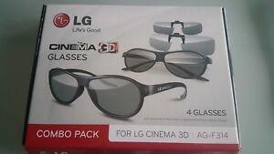 LG AG-F314 3D Brillen Glasses Clips Combo Pack Kino Cinema NEU
