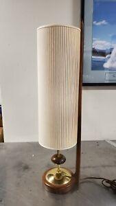 Vintage Mid Century Modern Danish Teak  Lamp