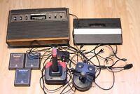 2X VINTAGE  Consoles Atari 2600 & JR. MINI & 3x Games
