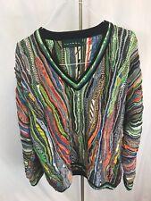 VTG Tundra Sweater 3D Bright Coogi Style Biggie Size XL