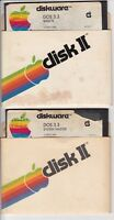"Original 1980 APPLE II DOS 3.3 Basics & SYSTEM MASTER 5.25"" Floppy Disc"