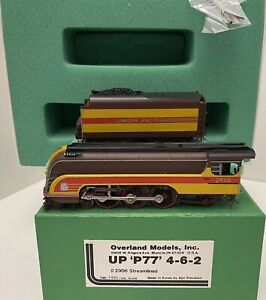 Brass H0 Overland Models OMI-1480 UP P77 4-6-2 # 2906 Streamliner UNION PACIFIC