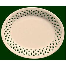 Royal Creamware Oval Lattice Dish