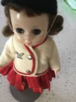Madame Alexander Kins strung non-walker Doll in Tagged Wendy FELT BLAZER~Red SKT