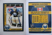 2015 SCA Jacques Cloutier rare Buffalo Sabres goalie never issued produced #/10