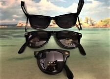 FOLDING SUNGLASSES RETRO CLASSIC WITH FLASH MIRROR DARK LENS AND POUCH
