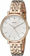 FOSSIL SILVER DIAL DIAMOND ROSE GOLD-TONE ST.STEEL LADIES WATCH ES3860 PRE-OWNED
