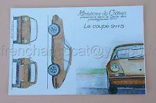 PL Miniatures château Carte postal PORSCHE coupé 911 S collector 1/43 Heco