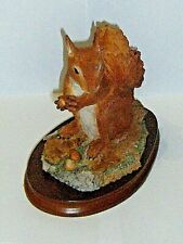 More details for wildtrack wildlife sculptures, red  squirrel, 1991, superb, very rare.