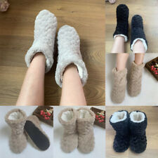 WOMENS KIDS ANKLE BOOT WINTER WARM INDOOR SOFT BOOTIE SLIPPERS SHOES SIZE 3-8