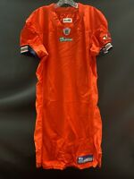 MIAMI DOLPHINS GAME USED REEBOK BLANK ON FIELD ORANGE JERSEY SIZE 44 2004