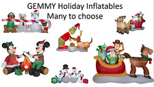 Gemmy Holiday Inflatables, Multiple sizes, Santa, Grinch, Mickey + More