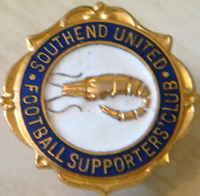 SOUTHEND UNITED FC Vintage SUPPORTERS CLUB Badge Maker THOMAS FATTORINI 24mm Dia