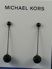 Michael Kors Black Ion Plated ICONIC LINKS Linear Drop Fireball Earrings $95   .