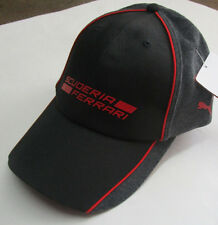 Men's Puma Ferrari Cap, New Black Red Gray Official Licensed Product Adult Hat