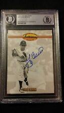 Yogi Berra beckett Autographed Signed 1993 Ted Williams Company Card Yankees