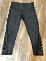 Athleta Gray Capri Pants Cropped Yoga Leggings Size XS EUC