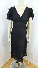 Betsey Johnson New York Black Cap Sleeve See Thru Woman Dress Size M