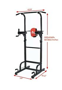dip station chin up bar pwer tower pull push home gym fitness