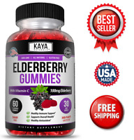 Elderberry Immune Support Gummies, Zinc, Vitamin C & E, Great Flavored Gummy