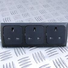 TRIPPLE 13A SOCKET KIT INC BACK BOXES for C-LINE CBE SYSTEMS CARAVAN MOTORHOME