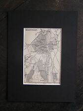 Antique map Maastricht Limburg Netherlands 1897 / free passepartout / carte
