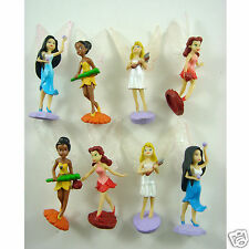 "HOT Set of 8 pcs TinkerBell Tinker Bell Fairy 2"" - 2.5"" Mini Action Figures Toy"