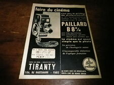 BOLEX PAILLARD - B8M/M -  Publicité de presse / Press advert !!! 1956 !!!