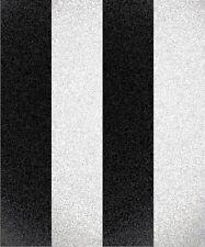 Glitter Stripe Black White Silver. Decorline Glitz Glitters Wallpaper DL40860