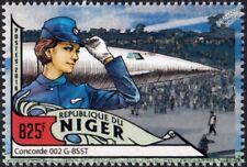 British Airways (BA) CONCORDE 002 (G-BSST) Airliner Aircraft Stamp (2016 Niger)